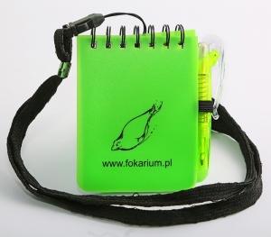 Notes na smyczy z długopisem