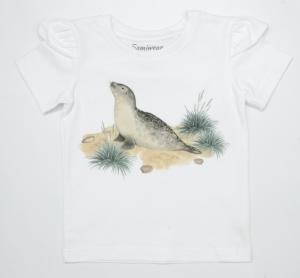 T-shirt dziecięcy z falbanką